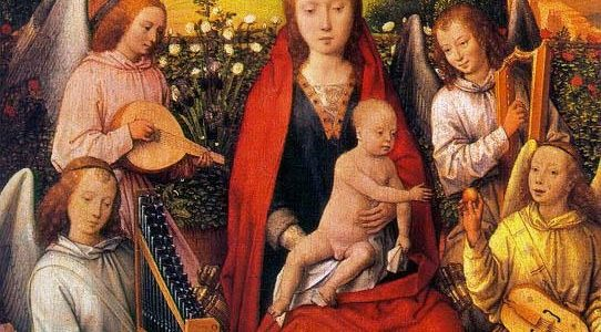 Hans Memling - Virgin and Child with Musician Angels
