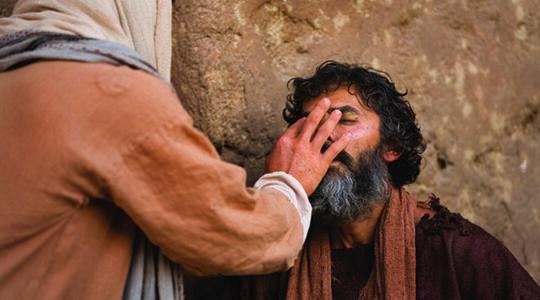 healing blind man
