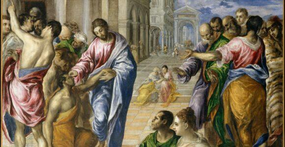 Christ healing the blind